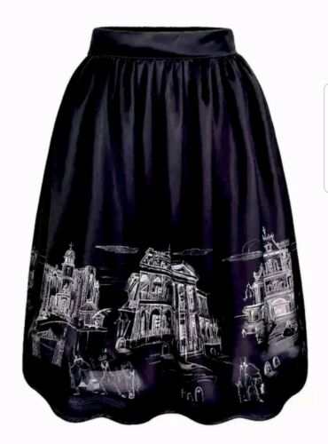 Disney Parks Haunted mansion The Dress Shop Skirt Lg hitchhiking hatbox ghost