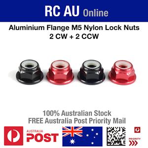 2 CW Nylock Prop Nuts Aluminium Flange M5 Propeller Nylon Lock Nuts 2 CCW
