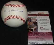 Braves Harry Hanebrink (d.96) Single Signed Autograph ONL Coleman Baseball JSA