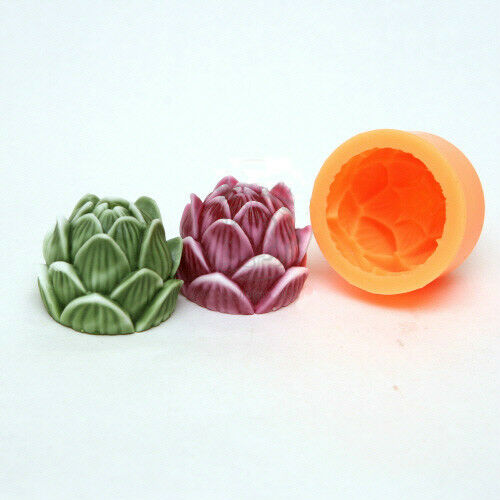 Brand New Silicone Mold Lotus Flower Shape For Soap Candle Clay Plaster DIY