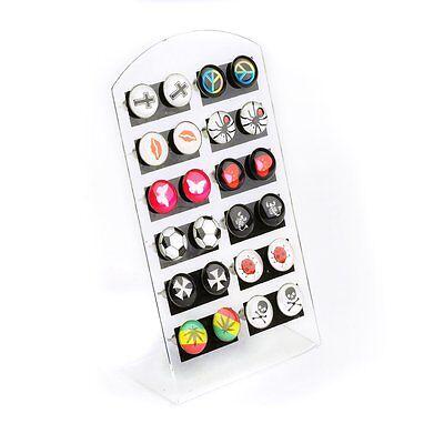 Wholesale 24pcs Mixed Enamel Logo Colorful Ear Studs Earrings + Display Pad Bulk