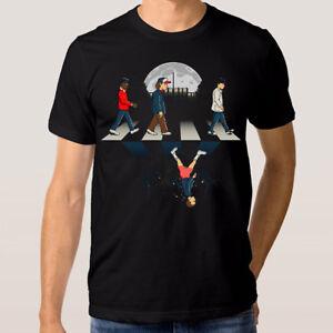 Stranger-Things-Abbey-Road-T-shirt-Men-039-s-Women-039-s-All-Sizes