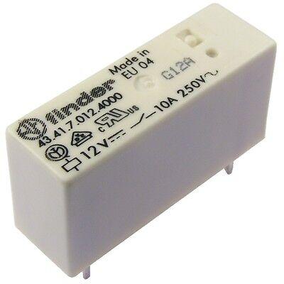 Finder 43.41.7.012.4000 Relais 12V DC 1xUM 10A 580R 250V AC Relay AgSnO2 855043