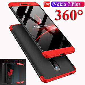the best attitude f749d 0661d Details about for Nokia 6 2018/7 Plus 360° Full Cover Acrylic PC Back  Case+Tempered Glass Film