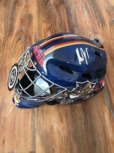 Roberto Luongo Signed Florida Panthers F S Goalie Mask Coa Helmet