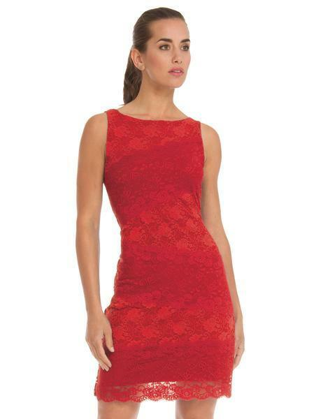 ARIANNE AISHA rot LACE TANK DRESS  NWT