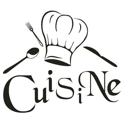 Sticker Toque Chef Cuisine Decal Aufkleber Pegatinas D-315 Couleurs au choix