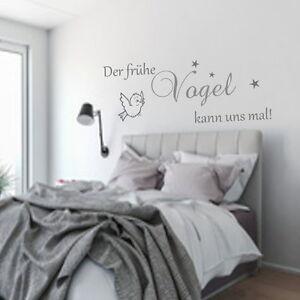 Wandtattoo-AA017-Schlafzimmer-Der-fruehe-Vogel-kann-uns-mal-Wand-Spruch-Aufkleber
