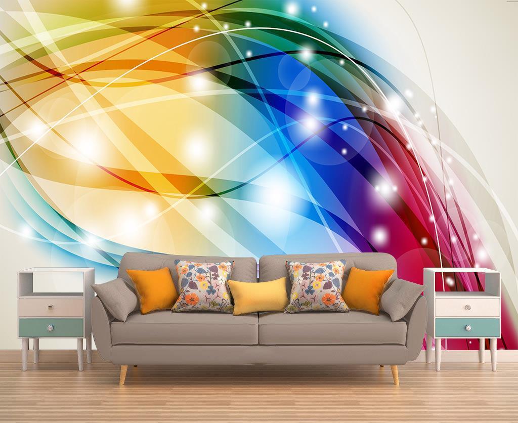 Photo Wallpaper Wall Mural Woven Self-Adhesive Art Abstract Farbe Splash M29