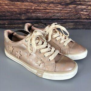 Mustang para Mujeres con cordones Estrellas De Oro Rosa Zapatillas Zapatos Tenis Talla 39 Reino Unido 5.5