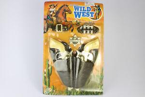 Vintage-Rare-Wild-West-Cowboy-Gun-Sherif-Shing-Bullets-Belt-Holster-Toy-Set