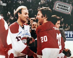 Facsimile Autographed Guy Lafleur and Vladislav Tretiak - Canada Cup