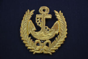 Golden anchor nautical sea cm sew iron on patch badge