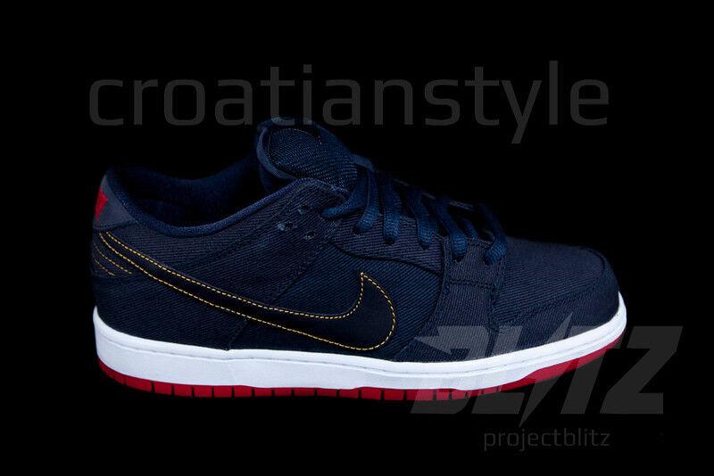 Nike e basso premio sb levi e 'denim blu scuro 573901-447 ossidiana sz 6 - 13