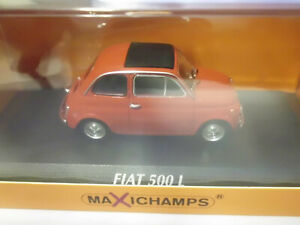 Maxichamps-1-43-940121600-FIAT-500-L-1965-RED-NEU-OVP