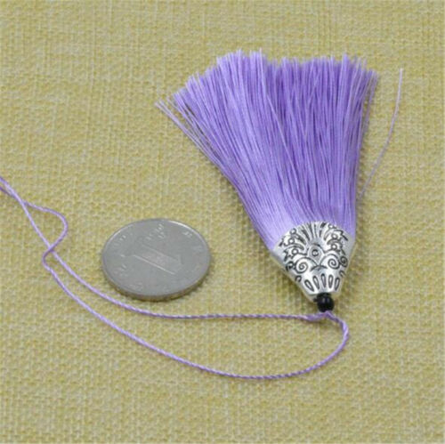 "10PCS 8cm 3.15/"" 26 Colors Crafts Sewing Decoration Costume Satin Tassels"