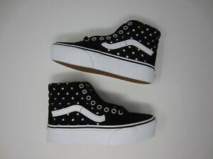 Détails sur Vans Sk8-Hi Platform 2 Daim Pois Chaussures Sneaker Noir Blanc Femme Taille 5- afficher le titre d'origine