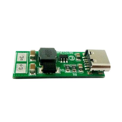 9W Type-C Female USB DC 5V to 6V 9V 12V 15V 24V DC DC Boost Step-up Converter