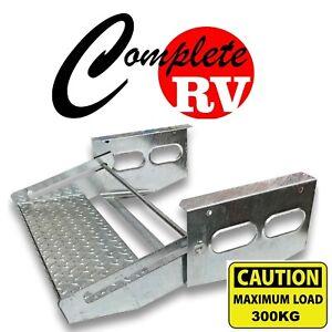 Single-Pull-Out-GALVANISED-Steel-Step-Caravan-Camper-Trailer-Accessories-Jayco