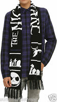 Winter Knit Scarf Disney: The Nightmare Before Christmas Free Shipping