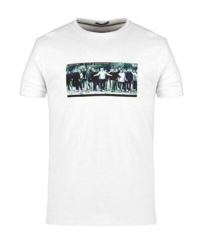 WEEKEND OFFENDER MEN/'S GREEN STREET CCTV PICTURE T-SHIRT TEE IN WHITE //// BNWT ////