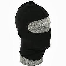 Zan Headgear Adult Balaclava Nylon Black WBN114