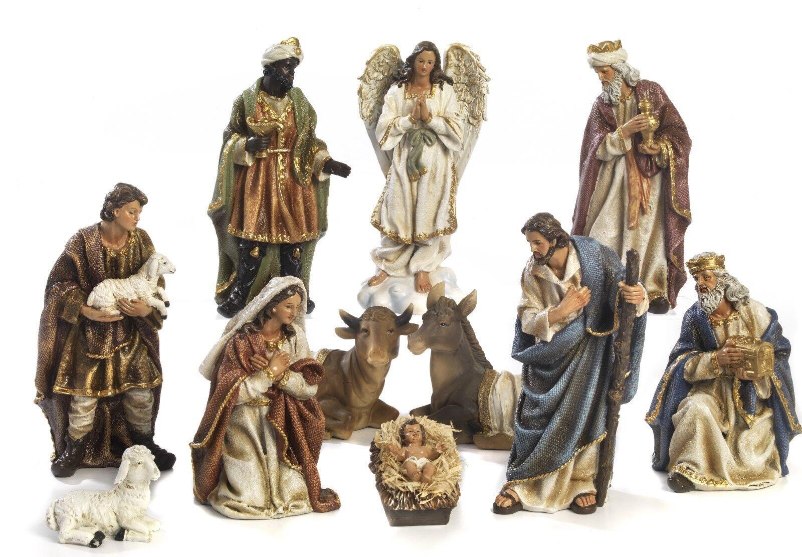 Articoli Religiosi by Paben Set 28,5 Presepe Natività 11 soggetti in Resina cm. 28,5 Set d3631e