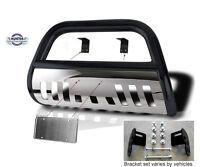2001-06 Chevy Silverado 2500 Hd 3500 Hunter Classic Bull Bar In Black W/ Ss Skid