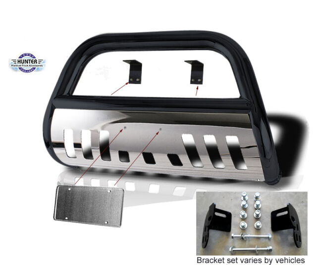 Bull bar fit 05-09 Nissan Xterra Push bumper guard black stainless steel Bumper