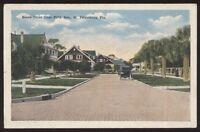 Postcard ST PETERSBURG Florida/FL  Beach Drive Area Houses/Homes view 1910's