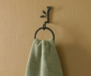 Nature Walk Cast Iron Branch Bathroom Ring Towel Hook by Park Designs