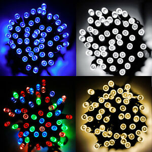 100-200-300-400-500-LED-Solar-Lichterkette-Weihnachten-Aussen-Dekoration-Leuchten