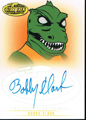 STAR TREK THE ORIGINAL SERIES ART AND IMAGES AUTOGRAPH CARD A13 BOBBY CLARK