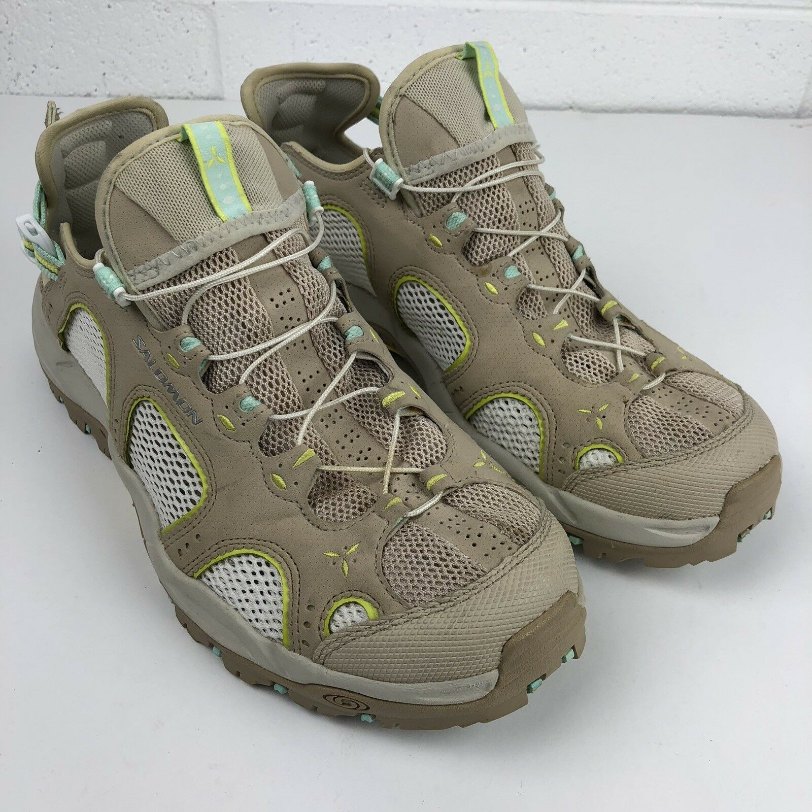 Salomon Techamphibian 3 Women's Size 9 Graphic Hike water trail shoes EUC