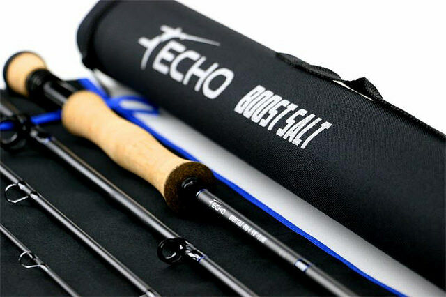 ECHO BOOST SALT 990-4 9' FT  9 WT WT WT 4 PC FLY ROD + TUBE, WARRANTY, FREE U.S. SHIP 455e82