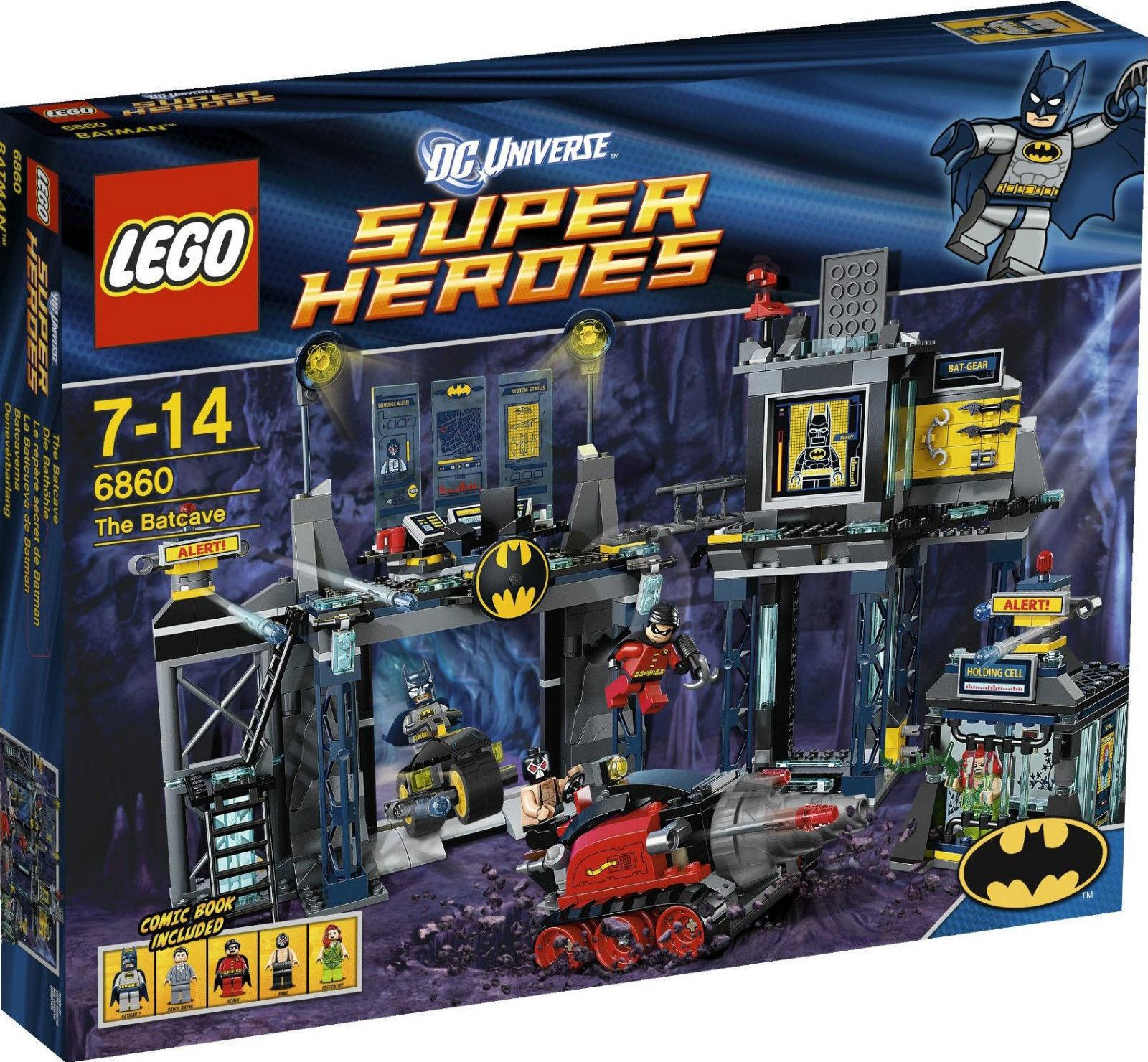 Nueva Caja Sellada Perfecto Lego Dc Super Heroes Batman 6860 la Baticueva Bat Cave