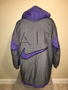 e630c555670f Vintage Nike AIR Mens Insulated Puffer Big Swoosh Full Zip Coat ...