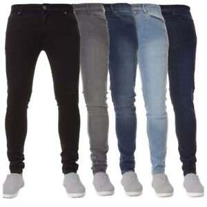 Details about Enzo Mens New Designer Branded Stretch Super Skinny Fit Denim Jeans BNWT