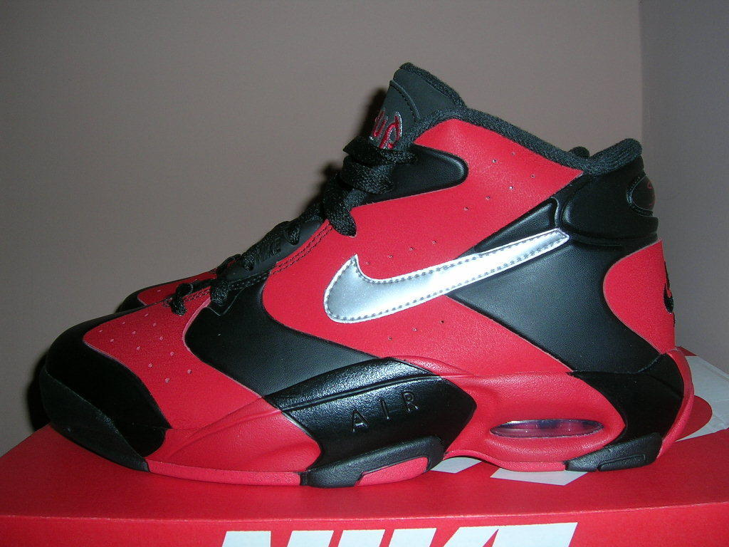 NEW NIKE AIR UP 14 MEN SZ 10 - 11 Black/Red/Silver 630929-002 Penny Pippen Bulls