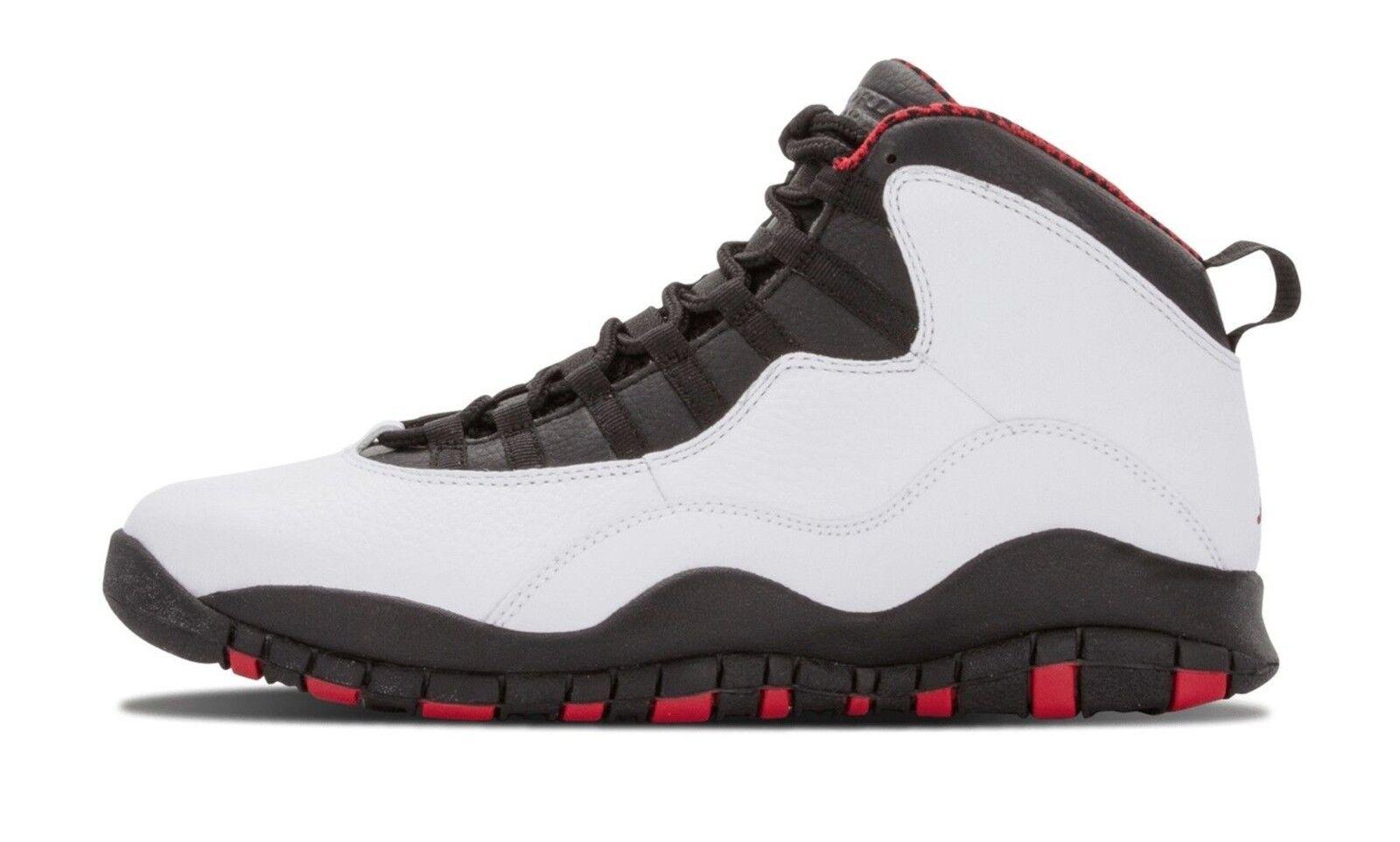 Bnib nike air jordan retrò x 10 chicago 2012 sz: 11 bianco rosso - nero 310805-100