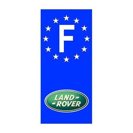 "2X Stickers Plaques Auto Fond Bleu /""Land Rover/"" F"