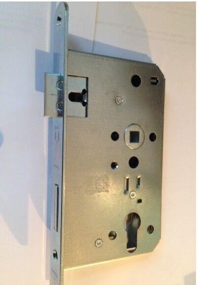 Stahltürschloss 9//65//72mm PZW verz.DIN R