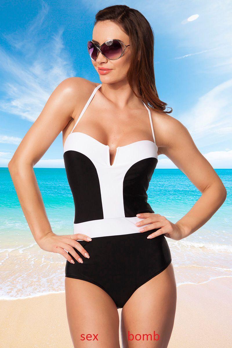 SEXY costume MARE monokini COPPE spalline removibili S M L XL fashion GLAMOUR