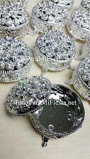 12 Wedding Party Favors Silver Trinket Box Fillable Recuerdos de Boda Cajita