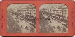 Parigi Francia Vintage Stereo Albume D'Uovo Ca 1865