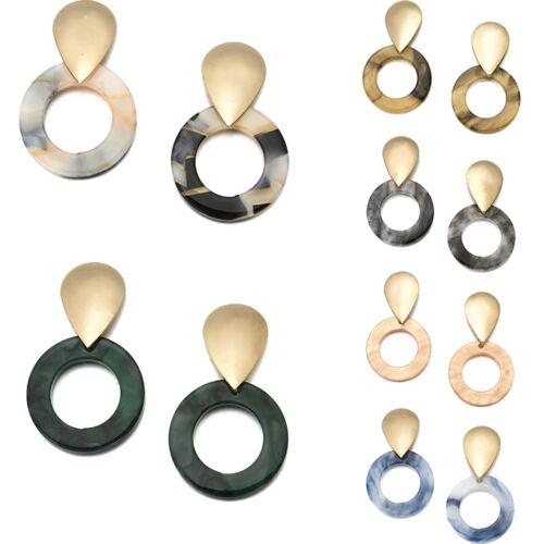 NEW Fashion Earrings Retro Women Resin Geometric Long Dangle Drop Stud Earrings