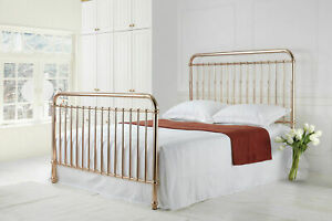 watch 577df c0fc8 Details about Time Living Rose Gold Metal Bed Frame Modern Style Single  Double King Size