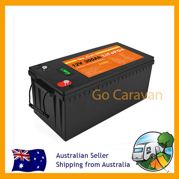 12V 300Ah Lithium Ion Battery LiFePO4 Deep Cycle Solar Replace AGM Caravan AMP