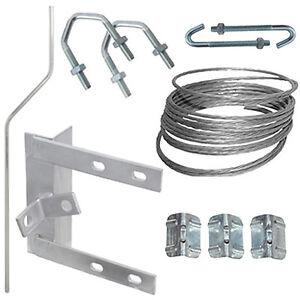 6-Chimney-Lashing-Bracket-amp-Cranked-Pole-Mast-Kit-TV-Aerial-Roof-Mounting