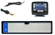 """KFZ Kennzeichenhalter mit integrierter Rückfahrkamera & 3.5"""" Monitor"""